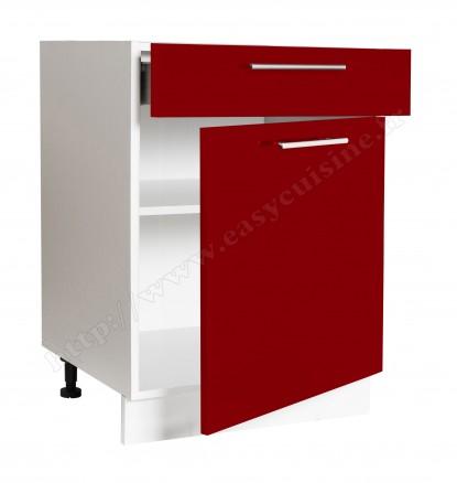 L ment bas 60cm 1 porte 1 tiroir easy cuisine for Element bas de cuisine 60 cm