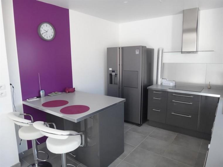 Nos cuisines quip es sur mesure pas cher easy cuisine for Cuisine moderne violet