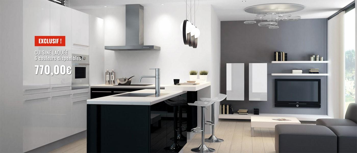 Cuisine equipee en solde maison moderne for Cuisine equipee en solde