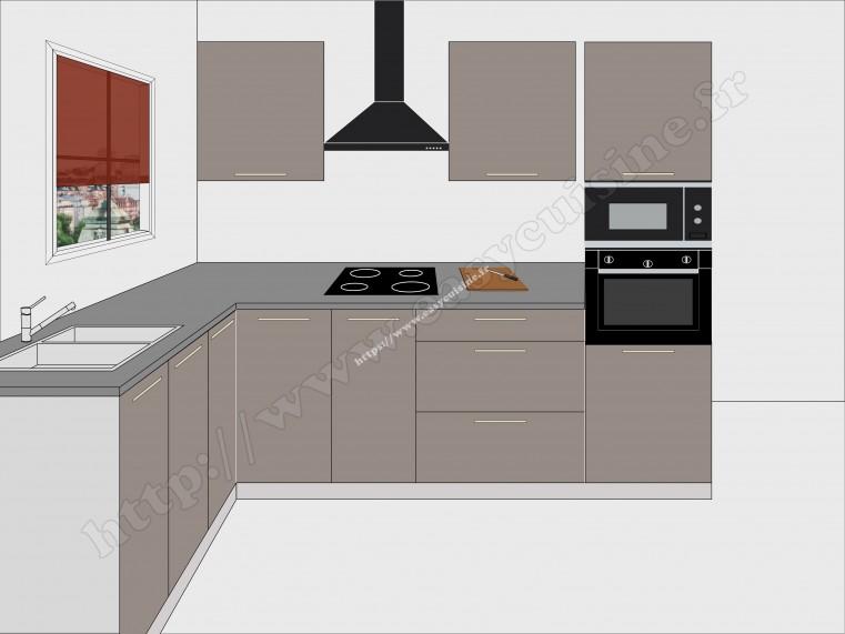 cuisine d 39 angle luxo seven cuisine compl te pas cher. Black Bedroom Furniture Sets. Home Design Ideas
