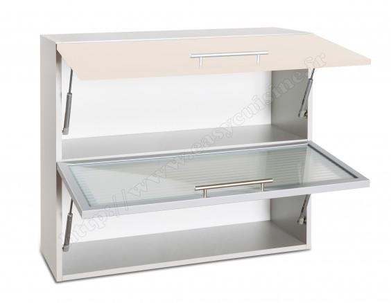 Meuble haut cuisine vitrée 80cm pas cher - Cuisine | Easy ...