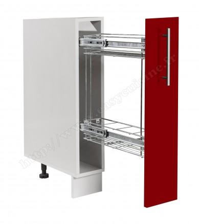 meuble bas cuisine 15 cm avec panier inox coulissant easy cuisine. Black Bedroom Furniture Sets. Home Design Ideas